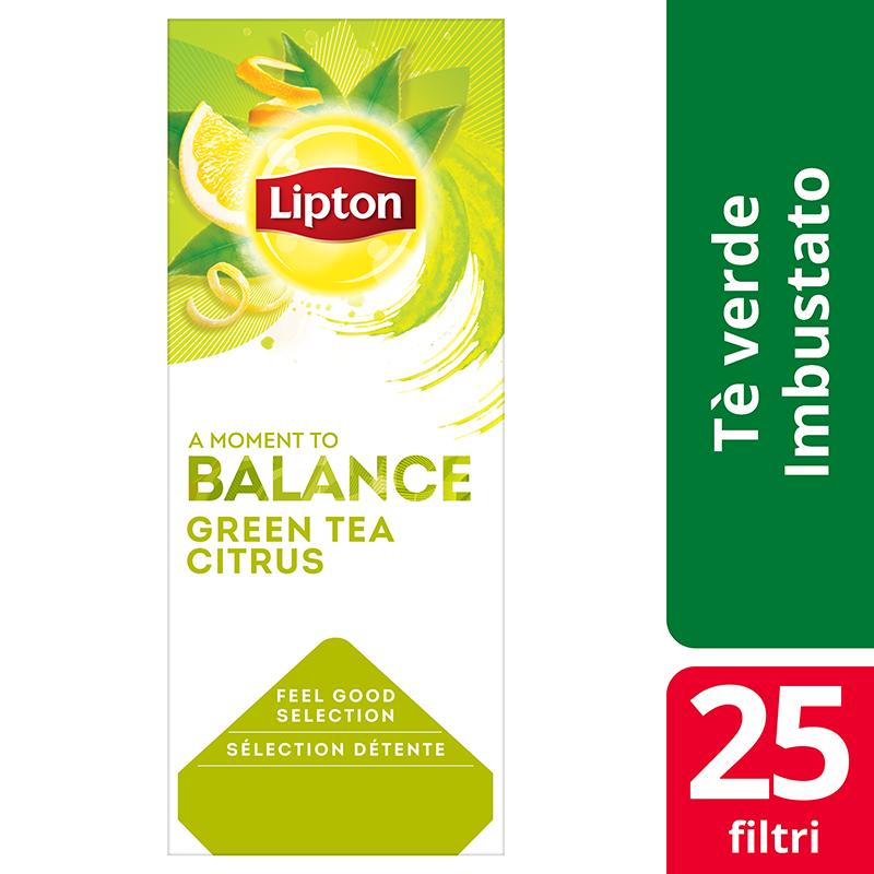 Lipton Green Tea Citrus Flavoured Green Tea 25 Filtri - Lipton Feel Good Selection offre un'ampia varietà di tè e infusi che aiutano i tuoi clienti a vivere al meglio ogni momento.