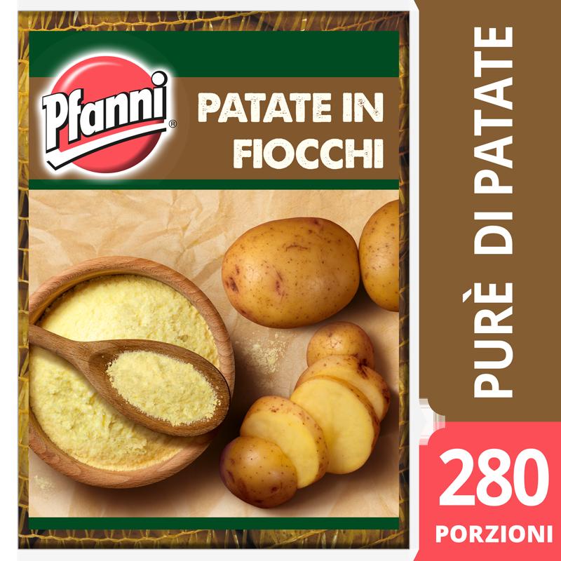 Pfanni Preparato per Purè di patate in fiocchi 4 Kg - Il Purè Pfanni ha sapore e colore naturali e una perfetta consistenza, perché è fatto con il 100% di patate di qualità, provenienti da agricoltura sostenibile.