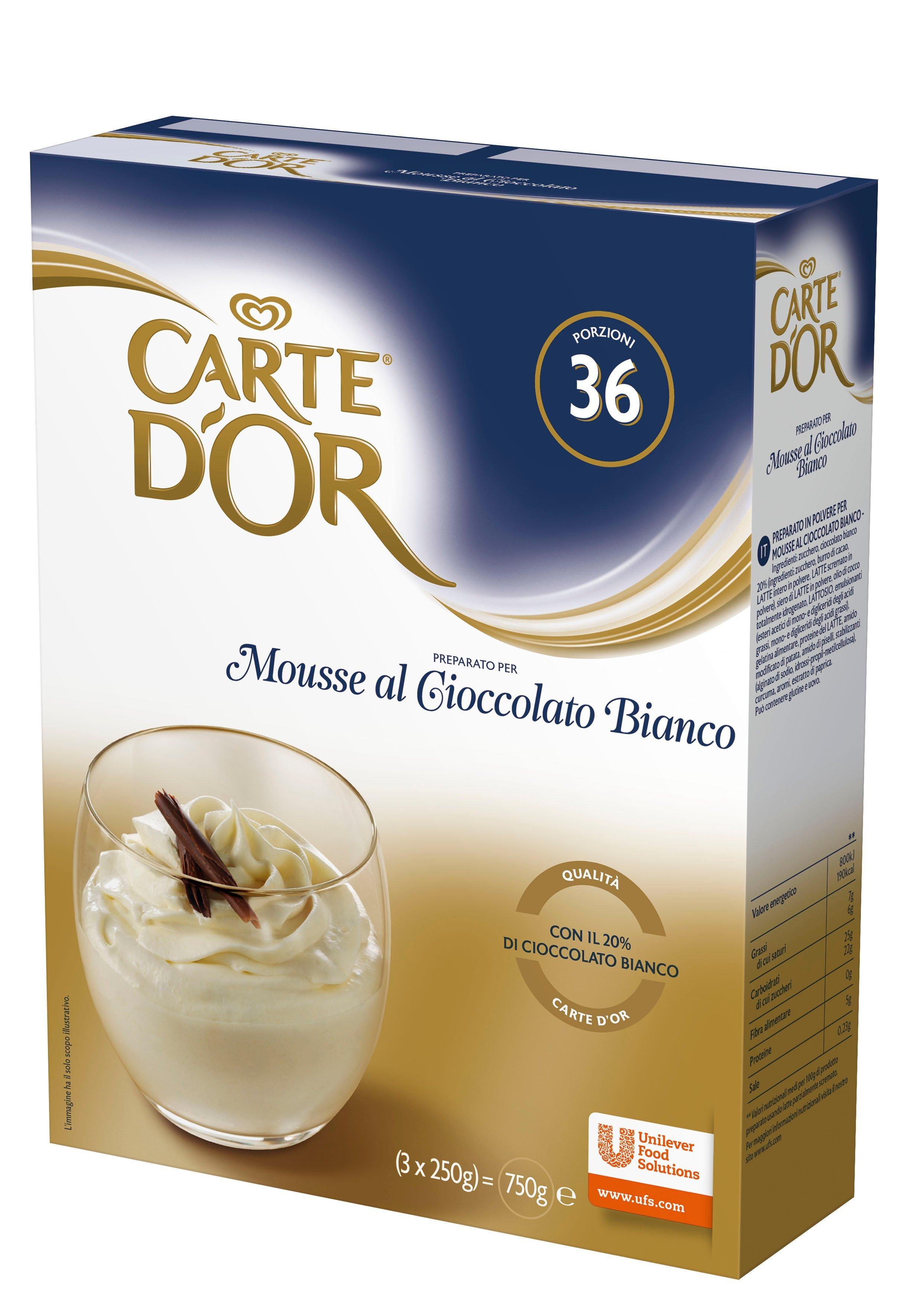 Carte d'Or preparato per Mousse al Cioccolato Bianco 750 Gr -