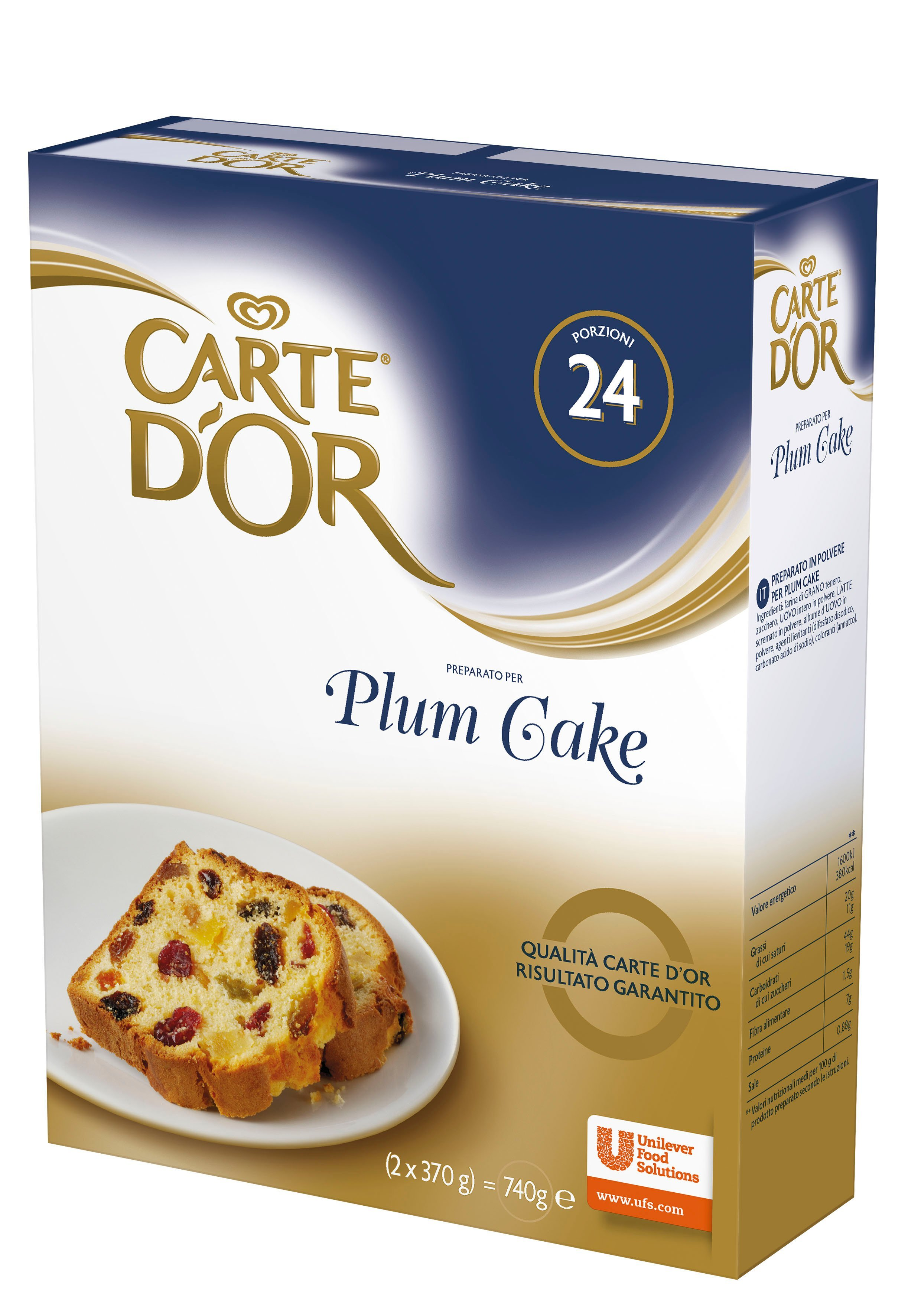 Carte d'Or preparato per Plum Cake 740 Gr -