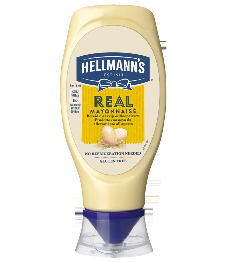 Hellmann's Real Mayonnaise Top Down 430 ml
