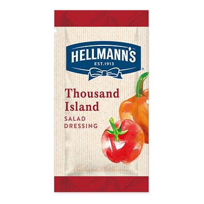 Hellmann's thousand island monodose - I Salad Dressing Hellmann's in monoporzione sono la soluzione perfetta per insaporire e rendere trendy tutte le tue insalate.