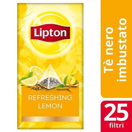 Lipton Pyramid Refreshing Lemon Flavoured Black Tea 25 Filtri -