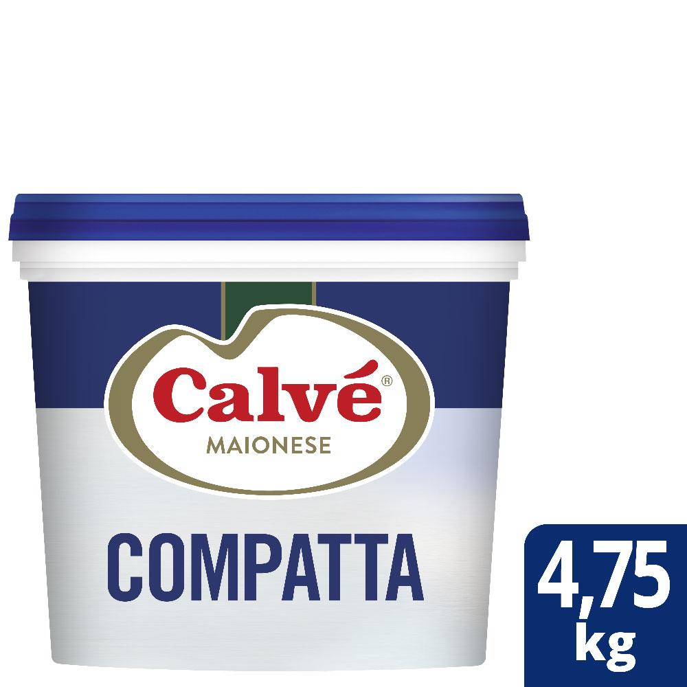 Calvé Maionese Compatta 4,75 Kg - Calvé Compatta garantisce gusto perfetto e lunga durata all'Insalata Russa.